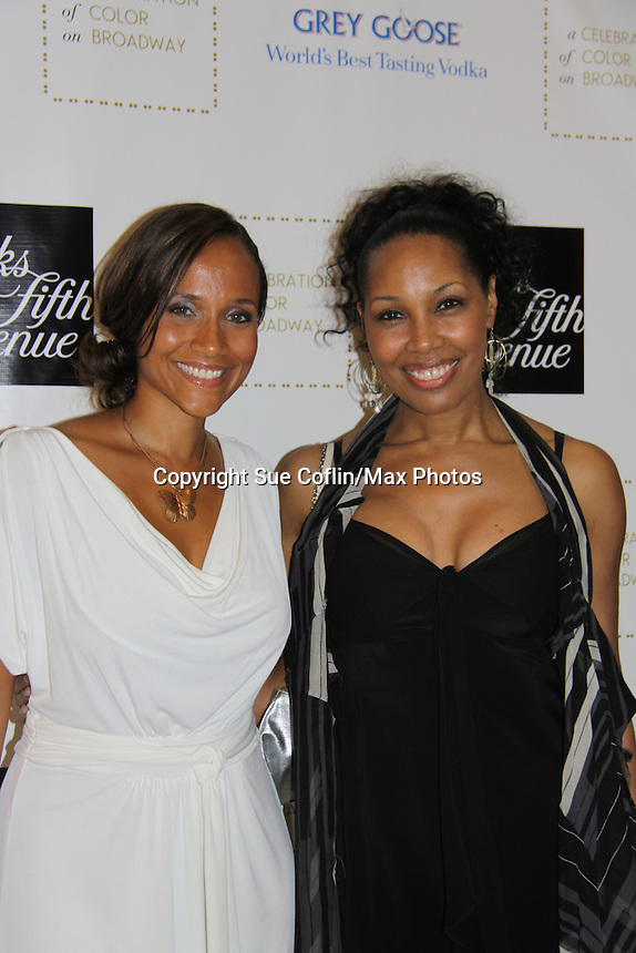 Guiding Light Yvonna Wright and Kim Brockington attend the Innaugural Celebration of Color on Broadway Awards were held on June 8, 2011 at SAKS Fifth Avenue, New York City, New York. The event was held upstairs where beautiful shoes are sold and where a part of the sales this night will benefit OPUS 118 Harlem's School of Music. (Photo by Sue Coflin/Max Photos)