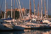 France/06/Alpes Maritimes/ Antibes: Port Vauban et le Fort Carré