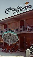 Cara Mara Motel Wildwood, NJ, neon sign during the day. 1963.