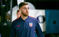 GEORGETOWN, GRAND CAYMAN, CAYMAN ISLANDS - NOVEMBER 19: Tyler Boyd #21 of the United States heads to the locker room during a game between Cuba and USMNT at  Truman Bodden Sports Complex on November 19, 2019 in Georgetown, Grand Cayman.