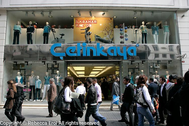 Cetinkaya department store on Istiklal Caddesi in Beyoglu, Istanbul, Turkey