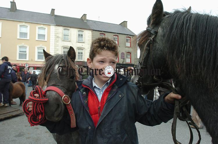 John Mc Donagh of Listowel was at the Fair in Kilrush. Photograph by John Kelly.