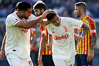 Paulo Dybala of Juventus celebrates after scoring the goal of 0-1 with Emre Can of Juventus <br /> Lecce 26-10-2019 Stadio Via del Mare <br /> Football Serie A 2019/2020 <br /> US Lecce - Juventus FC <br /> Photo Federico Tardito / Insidefoto