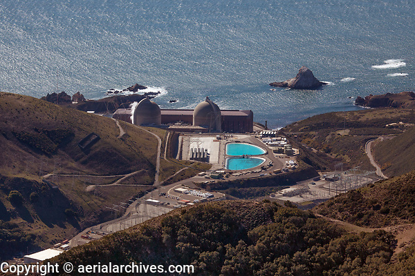 aerial photograph of Diablo Valley nuclear power plant, San Luis Obispo County, California