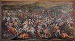 Victory of Cosimo I at Marciano in Val di Chiana, Giorgio Vasari 1565, Salone dei Cinquecento (Hall of 500), Palazzo Vecchio, Florence, Italy