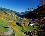 Oesterreich, Salzburger Land, Herbststimmung im Glemmtal: Saalbach-Hinterglemm | Austria, Salzburger Land, autumn at Glemm-Valley: Saalbach-Hinterglemm