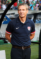 MEXICO CITY, MEXICO - AUGUST 15, 2012:  Jurgen Klinsmann coach of the USA MNT before an international friendly match against Mexico at Azteca Stadium, in Mexico City, Mexico on August 15. USA won 1-0.
