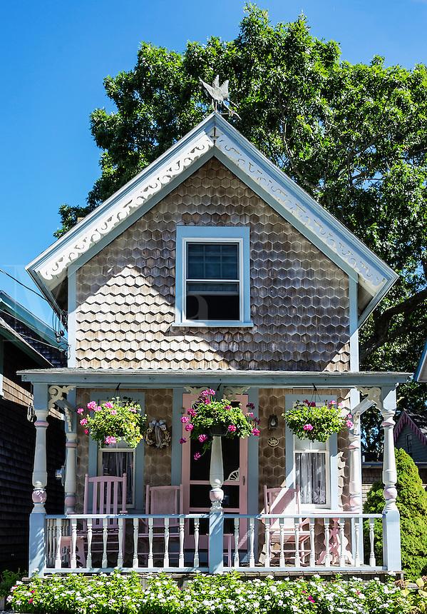 Campground cottage, Oak Bluffs, Martha's Vineyard, Massachusetts, USA