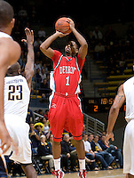 11 November 2009:  Xavier Keeling of Detroit shoots the ball during the game against California at Haas Pavilion in Berkeley, California.   California defeated Detroit, 95-61.