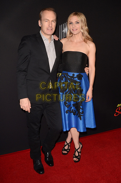 CULVER CITY, CA - MARCH 28: Bob Odenkirk and Rhea Seehorn at the season three premiere of AMC's Better Call Saul at Culver City Arclight in Culver City, California on March 28, 2017. <br /> CAP/MPI/DE<br /> ©DE/MPI/Capital Pictures