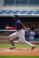 GCL Red Sox outfielder Yoan Aybar (3) at bat during the second game of a doubleheader against the GCL Rays on August 4, 2015 at Charlotte Sports Park in Port Charlotte, Florida.  GCL Red Sox defeated the GCL Rays 2-1.  (Mike Janes/Four Seam Images)