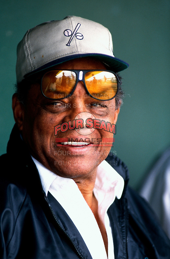 San Francisco Giants Hall of Famer Willie Mays during a Major League Baseball Spring Training game during the 1998 season in Phoenix, Arizona. (Larry Goren/Four Seam Images)