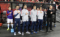 TORONTO, ON - OCTOBER 15: Gergg Berhalter head coach of USMNT and his bench during a game between Canada and USMNT at BMO Field on October 15, 2019 in Toronto, Canada.