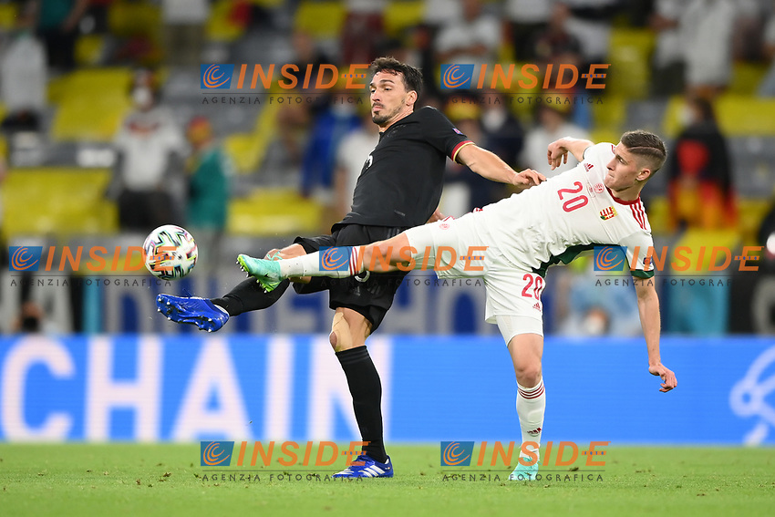MUNICH, GERMANY - JUNE 23:  during the UEFA Euro 2020 Championship Group F match between Germany and Hungary at Allianz Arena on June 23, 2021 in Munich, Germany. (Photo by Sebastian Widmann - UEFA/UEFA via Getty Images)<br /> Photo Uefa/Insidefoto ITA ONLY