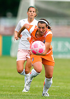Sky Blue FC  defender Meghan Schnur (12) handles the ball during a WPS match at Anheuser-Busch Soccer Park, in St. Louis, MO, June 7 2009.  Athletica won the match 1-0.