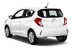 Car pictures of rear three quarter view of 2017 Chevrolet Spark 1LT 5 Door Hatchback Angular Rear