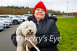 Tina Cunningham taking Chelsea the dog for a walk in the Tralee Bay Wetlands on Thursday.