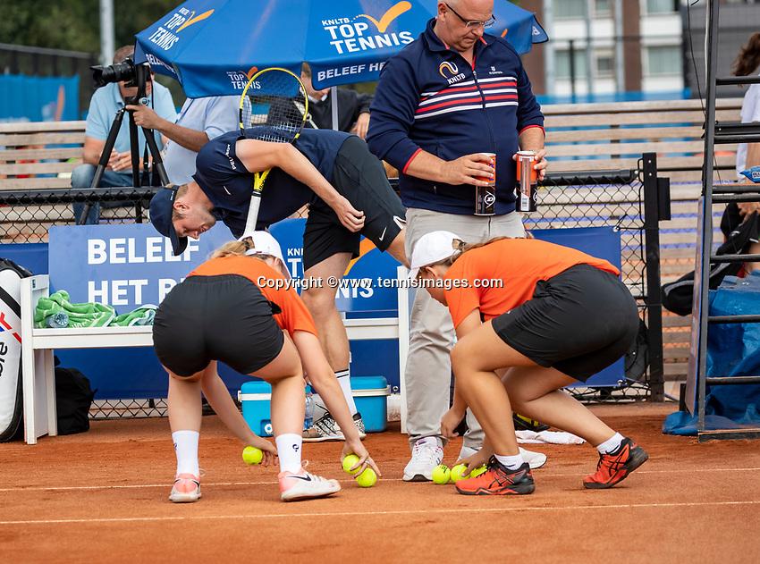Amstelveen, Netherlands, 1 August 2020, NTC, National Tennis Center, National Tennis Championships, Men's Doubles final: New Balls<br /> Photo: Henk Koster/tennisimages.com