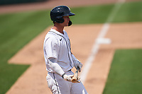 Detroit Tigers Dillon Dingler (9) bats during a Minor League Spring Training game against the Philadelphia Phillies on April 17, 2021 at Joker Marchant Stadium in Lakeland, Florida.  (Mike Janes/Four Seam Images)