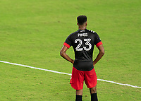 WASHINGTON, DC - SEPTEMBER 06: Donovan Pines #23 of D.C. United waits for a set play during a game between New York City FC and D.C. United at Audi Field on September 06, 2020 in Washington, DC.