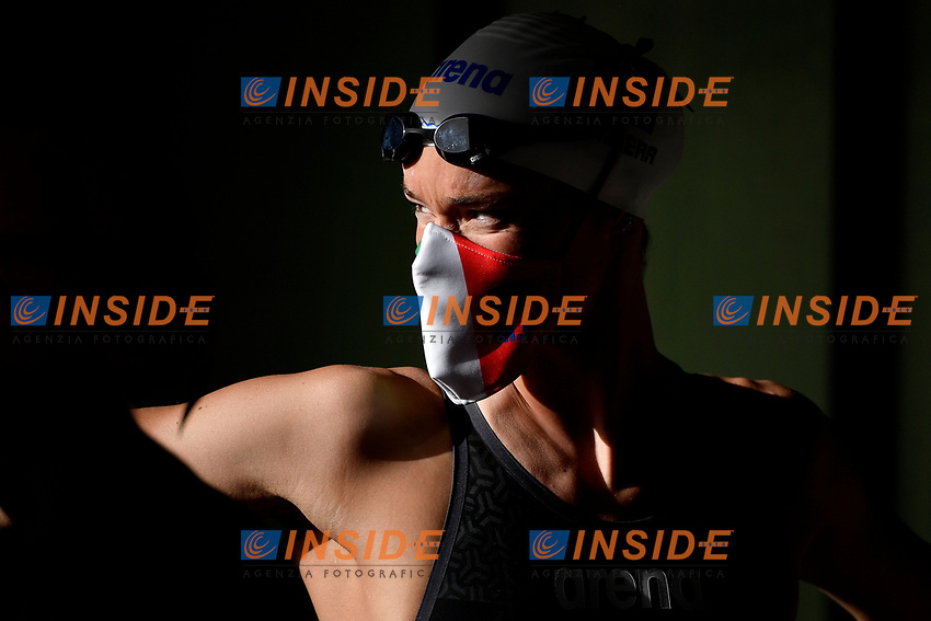 Margherita Panziera of Italy prepares to compete in the women 50m backstroke during the 58th Sette Colli Trophy International Swimming Championships at Foro Italico in Rome, June 25th, 2021. Margherita Panziera placed sixth in her heat. <br /> <br /> <br /> Photo Andrea Staccioli/Insidefoto/Deepbluemedia