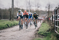 Loïc Vliegen (BEL/Wanty-Gobert) flyin' over the cobbles<br /> <br /> 51th Le Samyn 2019 <br /> Quaregnon to Dour (BEL): 200km<br /> <br /> ©kramon