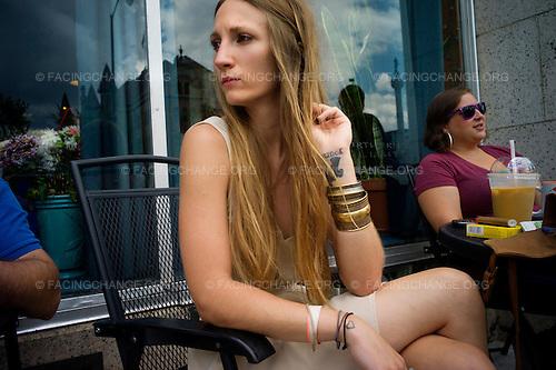Scranton, Pennsylvania.July 30, 2012..Danielle Rinaldi, 29, who works in retail...Photograph by Alan Chin.