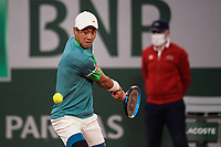6th June 2021; Roland Garros, Paris France; French Open tennis championships day 8;  Kei Nishikori ( Jap )