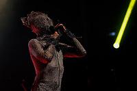 """SÃO PAULO, SP 16.08.2019: NEY MATOGROSSO-SP - O cantor Ney Matogrosso apresentou o show da turnê """"'Bloco na Rua""""' na noite desta sexta-feira (16), no Espaço das Américas, zona oeste da capital paulista. (Foto: Ale Frata/Código19)"""