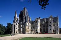 Europe/France/Normandie/Basse-Normandie/14/Calvados/Vallée de la Mue: Le Château de Fontaine-Henry - Architecture gothique et renaissance