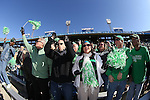 DENTON, TX  JANUARY 1:  Mean Green fans cheer during the game between the North Texas Mean Green and the UNLV Rebels during the Heart of Dallas Bowl at Cotton Bowl Stadium in Dallas on January 1, 2014 in Dallas, TX.  Photo by Rick Yeatts North Texas won 36-14 over UNLV.