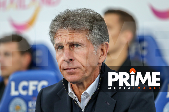 Claude Puel (Manager) of Leicester City during the English League Cup Round 2 Group North match between Leicester City and Fleetwood Town at the King Power Stadium, Leicester, England on 28 August 2018. Photo by David Horn.