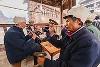 Asia,Cina ,Guizhou,Zhaoxing, musicians at funeral ,China minority