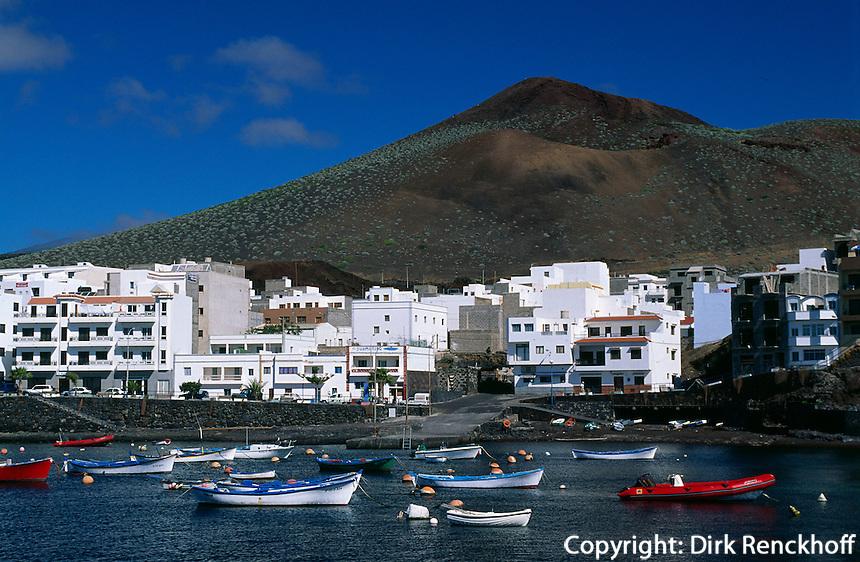 Spanien, Kanarische Inseln, El Hierro, Hafen von Restinga