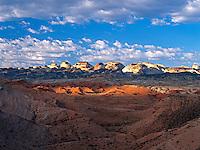 Splashes of sunlight illuminate the colorful desert of southern Utah<br />