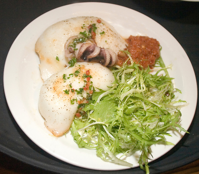 Seafood Dinner, Tapas Brindisi Restaurant, London, England