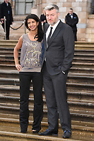 """Konnie Huq and Charlie Brooker<br /> arriving for the world premiere of """"Our Planet"""" at the Natural History Museum, London<br /> <br /> ©Ash Knotek  D3491  04/04/2019"""