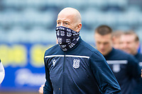 20th February 2021; Dens Park, Dundee, Scotland; Scottish Championship Football, Dundee FC versus Queen of the South; Charlie Adam of Dundee during the warm up before the match