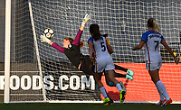 San Diego, CA - Sunday July 30, 2017: Alyssa Naeher during a 2017 Tournament of Nations match between the women's national teams of the United States (USA) and Brazil (BRA) at Qualcomm Stadium.