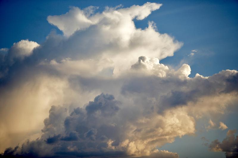 Storm clouds over the Black Rock Desert. Nevada