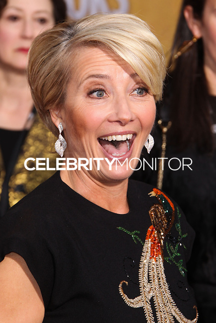LOS ANGELES, CA - JANUARY 18: Emma Thompson at the 20th Annual Screen Actors Guild Awards held at The Shrine Auditorium on January 18, 2014 in Los Angeles, California. (Photo by Xavier Collin/Celebrity Monitor)