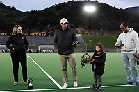 Kyle Pontifax (and a mysterious gorse trophy) after the men's premier one Wellington Hockey final between Dalefield and Harbour City at National Hockey Stadium in Wellington, New Zealand on Saturday, 26 September 2020. Photo: Dave Lintott / lintottphoto.co.nz