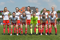 team of Zulte Waregem with (up from L to R)  Pauline Windels (5) of Zulte Waregem   Geena Lisa Buyle (13) of Zulte Waregem   Romy Camps (3) of Zulte Waregem   Summer Rogiers (8) of Zulte Waregem   Julie Devos (21) of Zulte Waregem   Ella Vierendeels (4) of Zulte Waregem    (down from L to R) Amber De Priester (6) of Zulte Waregem   Sheryl Merchiers (11) of Zulte Waregem   goalkeeper Ianthe Meerschaert (31) of Zulte Waregem   Liesa Capiau (15) of Zulte Waregem   Laura Vervacke (20) of Zulte Waregem   pictured during a female soccer game between SV Zulte - Waregem and White Star Woluwe on the 10 th and last matchday in play off 2 of the 2020 - 2021 season of Belgian Scooore Womens Super League , saturday 29 of May 2021  in Zulte , Belgium . PHOTO SPORTPIX.BE | SPP | DIRK VUYLSTEKE