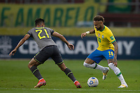 4th June 2021; Beira-Rio Stadium, Porto Alegre, Brazil; Qatar 2022 qualifiers; Brazil versus Ecuador; Neymar of Brazil takes on Alan Franco of Ecuador