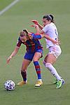 Liga IBERDROLA 2020-2021. Jornada: 18.<br /> FC Barcelona vs R. Madrid: 4-1.<br /> Caroline Graham Hansen vs Thaisa de Moraes.