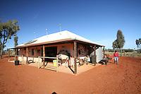 Camel Riding Ranch near Uluru in the Red Centre, Australia