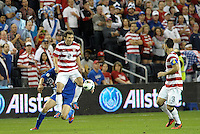 U.S defender Michael Parkhurst (2) in action..USMNT defeated Guatemala 3-1 in World Cup qualifying play at LIVESTRONG Sporting Park, Kansas City, KS.
