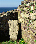 St  Saint Nons Chapel, St Davids Head Pembrokshire Wales. Uk. Celtic Britain published by Orion