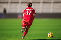 ORLANDO, FL - FEBRUARY 24: Jessie Fleming #17 of the CANWNT dribbles the ball during a game between Brazil and Canada at Exploria Stadium on February 24, 2021 in Orlando, Florida.