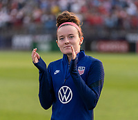 EAST HARTFORD, CT - JULY 5: Rose Lavelle #16 of the USWNT salutes the crowd during a game between Mexico and USWNT at Rentschler Field on July 5, 2021 in East Hartford, Connecticut.